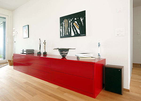 Sideboard – model painted in RAL 3001 Signal red